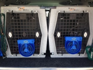 For longer trips or larger dogs, size appropriate crates securely attached to your vehicle can ensure they travel not only safely, but comfortably.