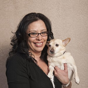 Dr. Silvia Rodriguez and her dog Luna